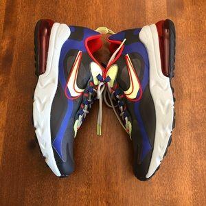 NIKE   Air max 270 react neon running shoe